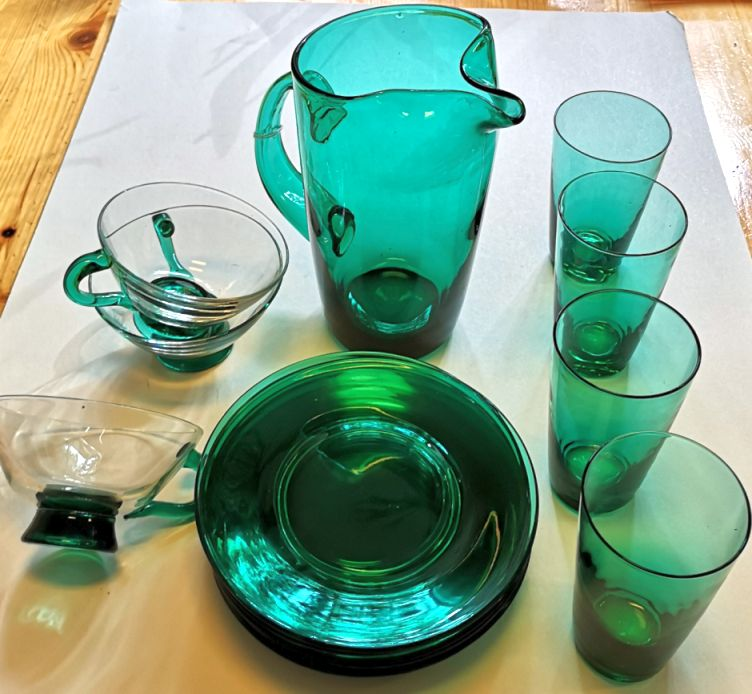 Hadeland-grønt glass lot